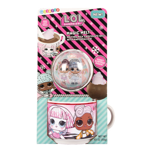 Front of L.O.L. Surprise hot chocolate bomb gift set