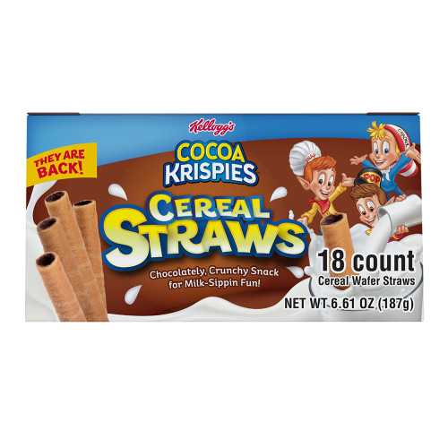 Kellogg's Cocoa Krispies Cereal Straws 18 Count