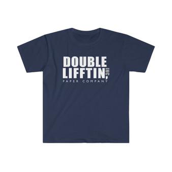 Navy Double Lifftin paper company T-shirt