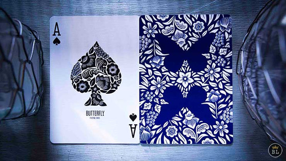 Butterfly Playing Cards - Blue