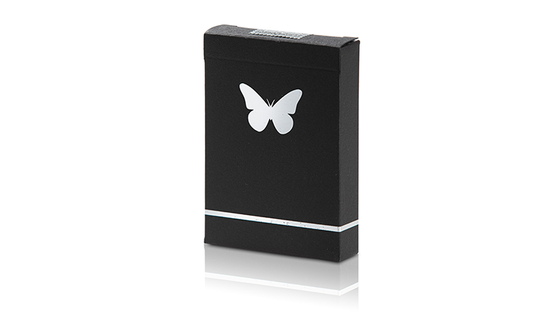 Butterfly Playing Cards - Black & Silver (Marked)