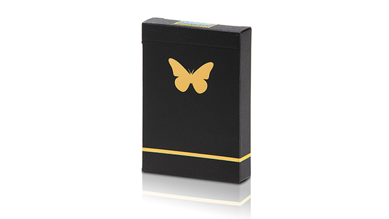 Butterfly Playing Cards - Black & Gold (Marked)