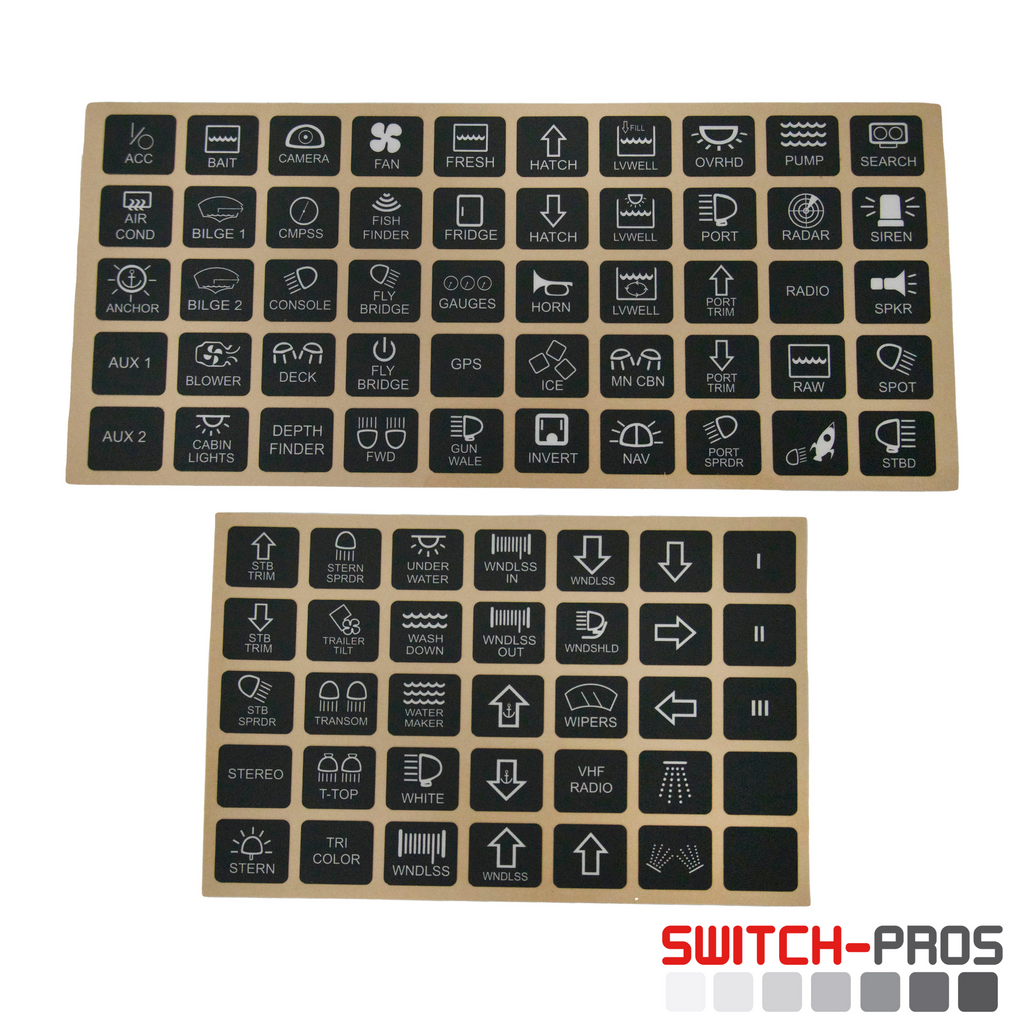 Marine Switch Legends for Switch-Pros System