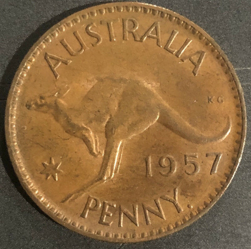 1957 Wide Date Penny Scarce Variety gEF