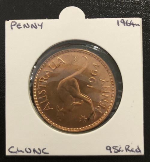 1964m Penny ChUNC Coin 95% Red