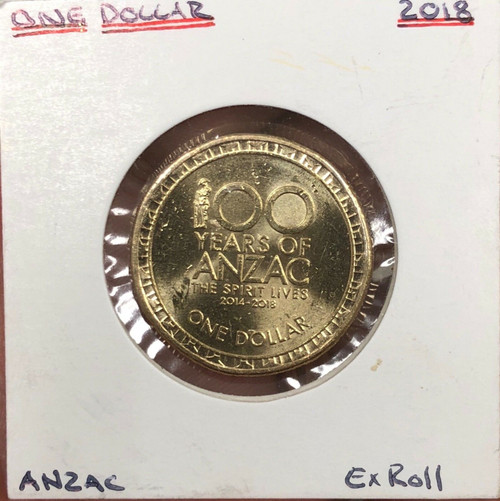 2018 ANZAC The Spirit Lives On $1 One Dollar Coin Ex Roll UNC