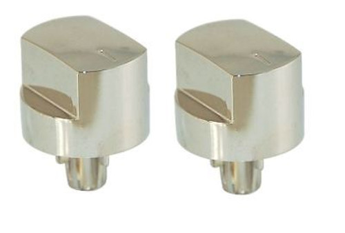 2 X Stoves Compatible Silver Hob Oven Switch Knobs 082589107