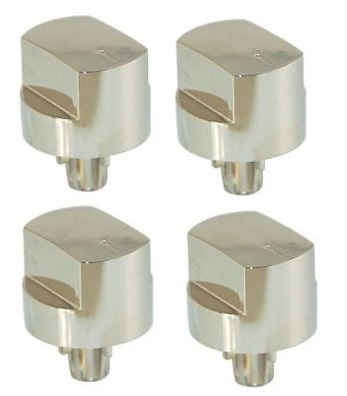 4 X Stoves Compatible Silver Hob Oven Switch Knobs 082589107