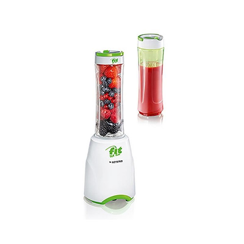 Severin Sm3735 Smoothie Maker Stainless Steel Blade-White-Green 600 Ml 300W