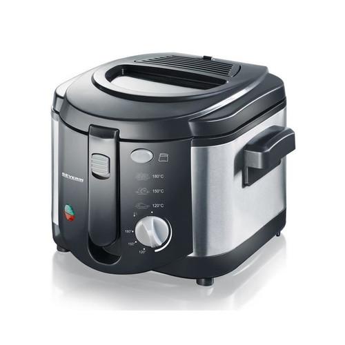 Severin FR 2437 Fryer, 2 L, 1500 W, Stainless Steel/Black, Cooking Frying