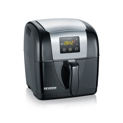 Severin FR2432 Stainless Steel Hot Air Fryer 2 Litre 1300W Black/Stainless Steel