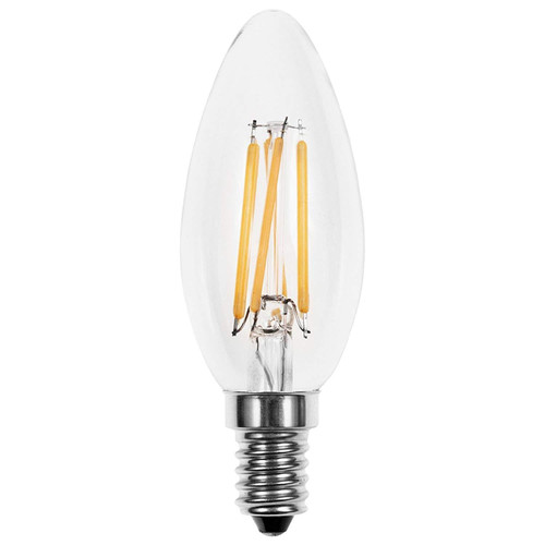 V-Tac Candle Led 4W Filament Dimmable Ses Clear 400Lm 2700K