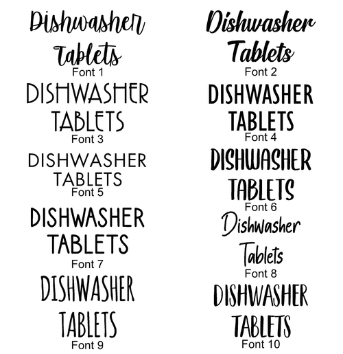 (Two Lines) Organisation Labels - 10 Fonts - 32 Colours - 5 Sizes
