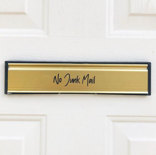 Letter Box 'NO JUNK MAIL' Label