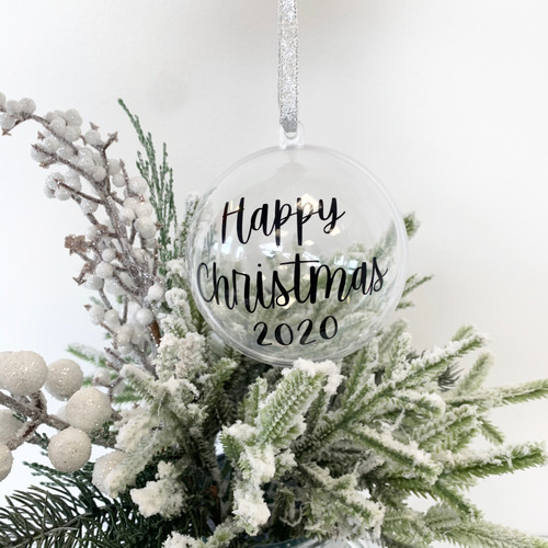 Personalised Fillable Christmas Baubles