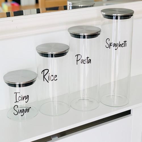 Stainless Steel Glass Jar Bundle