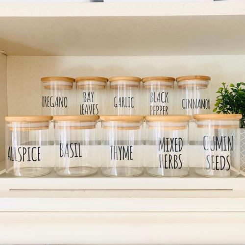 Bamboo Spice Jars