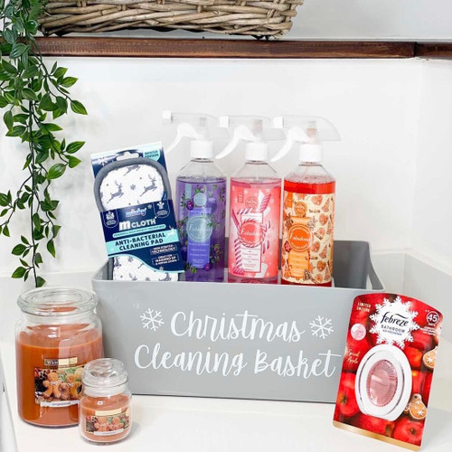Christmas Cleaning Basket