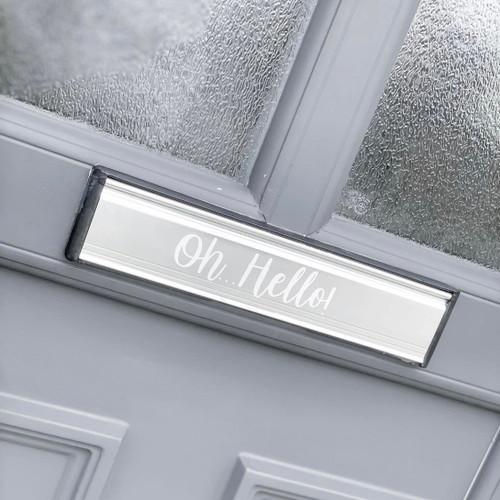 Letter Box ' Oh Hello! ' Label