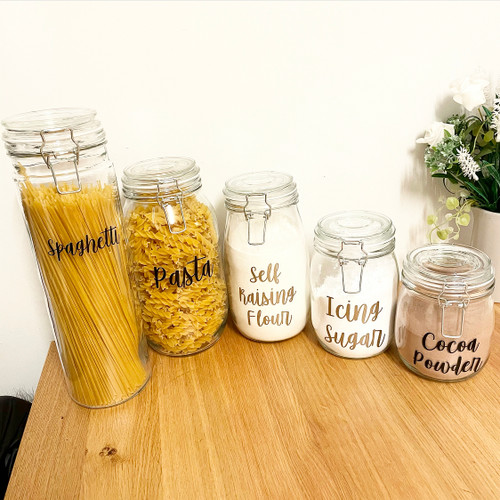Clip Lid Glass Storage Jars