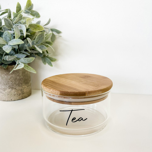 1 Tier Stacked Glass Jar with Bamboo Lid