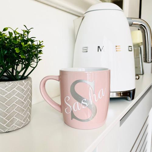 Pink Mug with Initial & Name