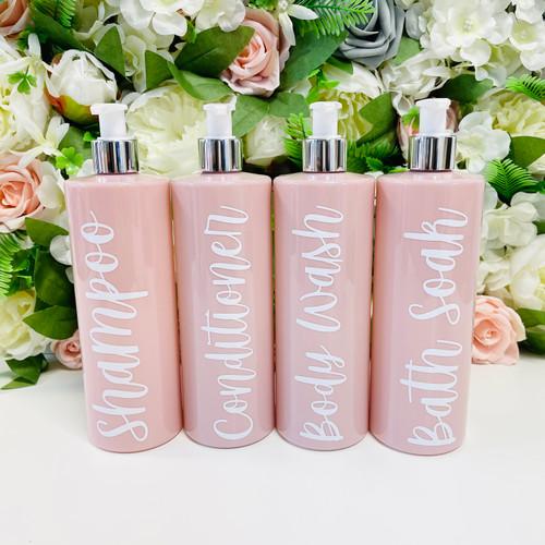 *** NEW *** Pink Pump Dispenser Bottles