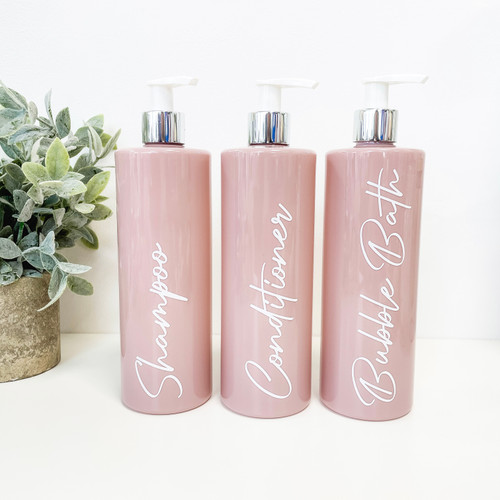 *** NEW *** Pink Pump Dispenser Bottles