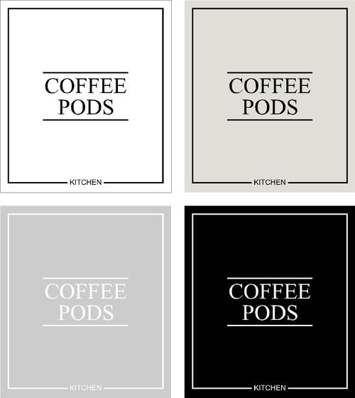 Minimal Coffee Pods Label