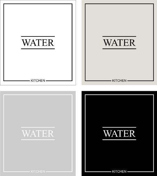 Minimal Water Label