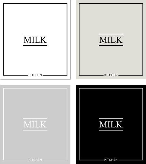 Minimal Milk Label