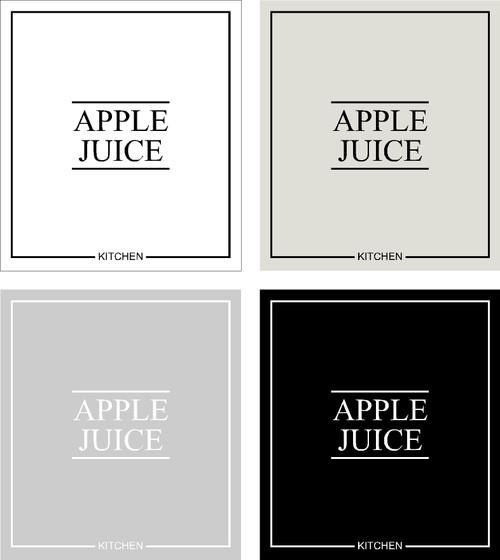Minimal Apple Juice  Label
