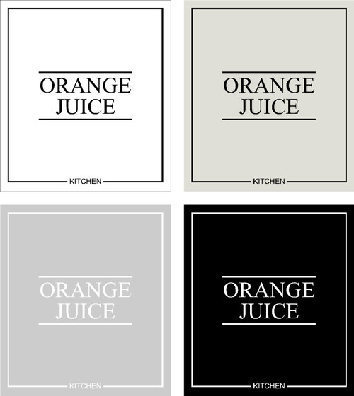 Minimal Orange Juice  Label
