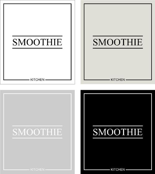 Minimal Smoothie Label