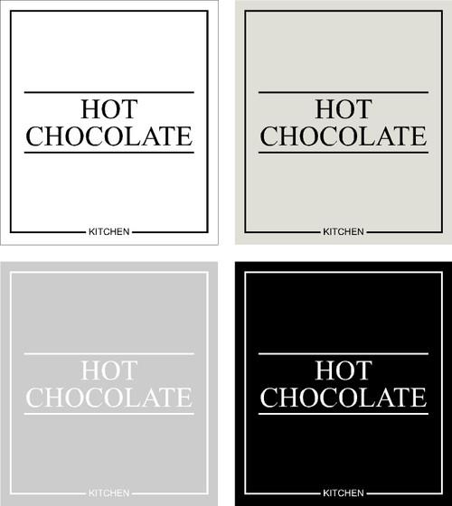 Minimal Hot Chocolate Label