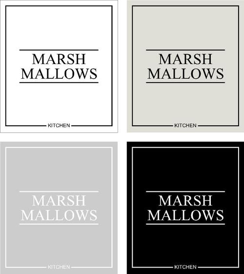 Minimal Marshmallows Label