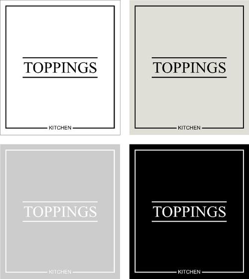 Minimal Toppings Label