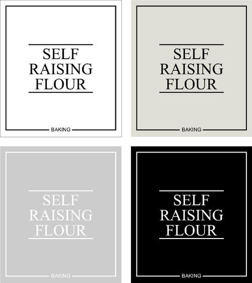 Minimal Self Raising Flour Label