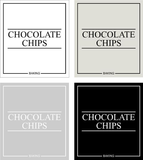 Minimal Chocolate Chips Label