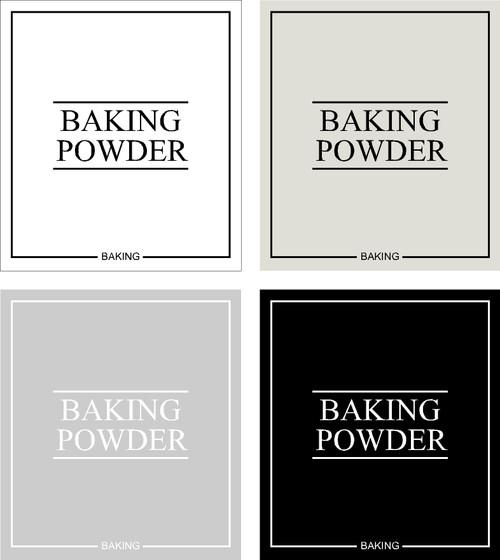 Minimal Baking Powder Label