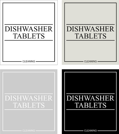 Minimal Dishwasher Tablets Label