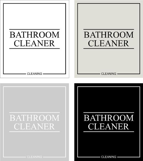Minimal Bathroom Cleaner Label