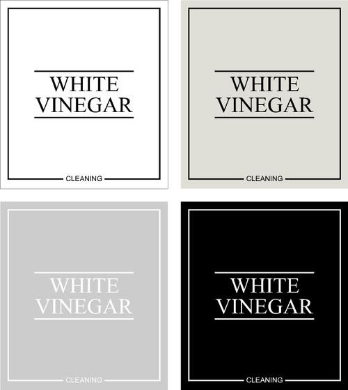 Minimal White Vinegar Label