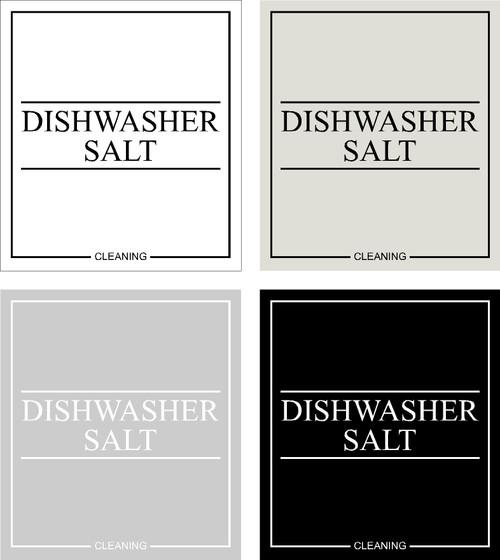 Minimal Dishwasher Salt Label