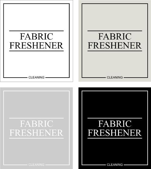 Minimal Fabric Freshener Label