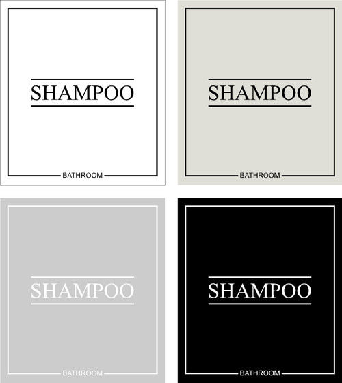 Minimal Shampoo Label