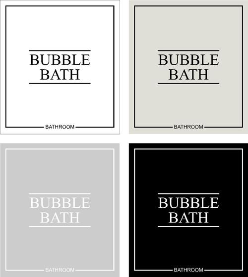 Minimal Bubble Bath Label