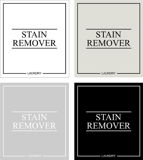 Minimal Stain Remover Label