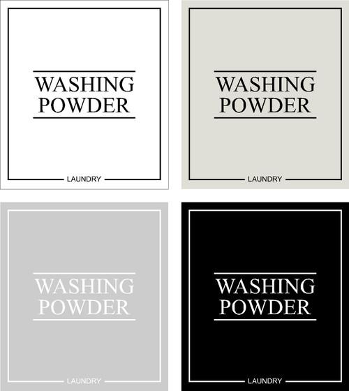 Minimal Washing Powder Label