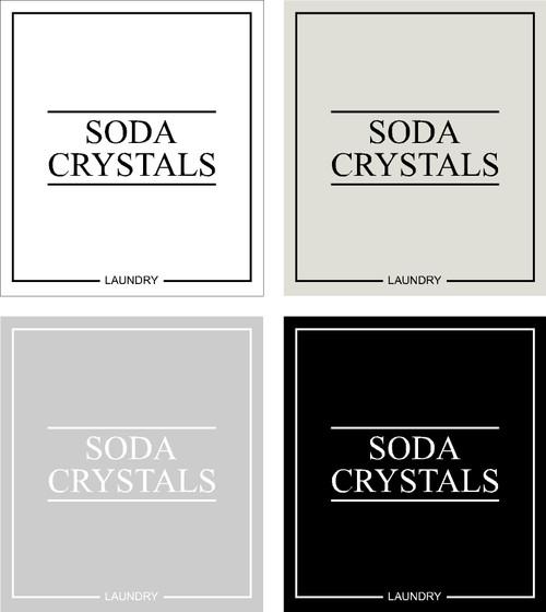 Minimal Soda Crystals Label